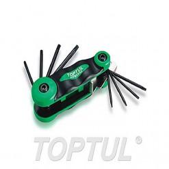 TOPTUL Foldable Type Star LN Key 8pc T6 T7 T8 T9 T10 T15 T20 T25 TOPTUL AIFB0802