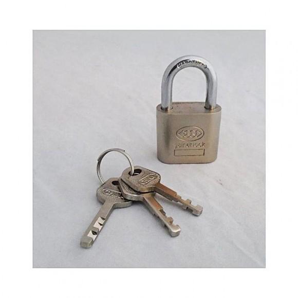 50 MM Padlock With 3 Keys - Silver