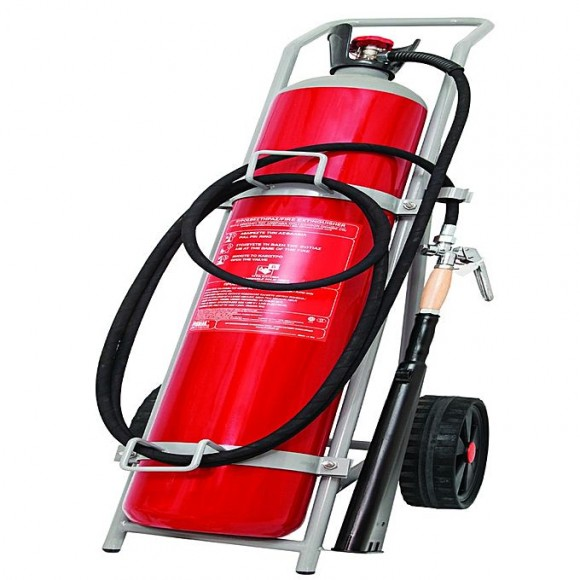 Mobiak Fire Extinguisher Trolley Type CO2 45KG