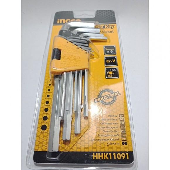 Ingco Hex Key Set 9Pcs