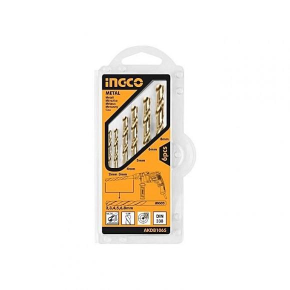 Ingco 6 Pcs Masonry Hss Twist Drill Bits Set
