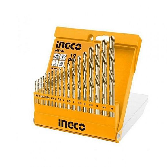 Ingco 9 Pcs - Twist Drill Bit Set - Silver