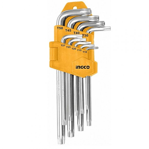 Ingco Torx Key Set - 9 Pcs - Silver