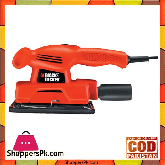 Black & Decker 135W Sander 1/3 Sheet KA300 - Black and Red