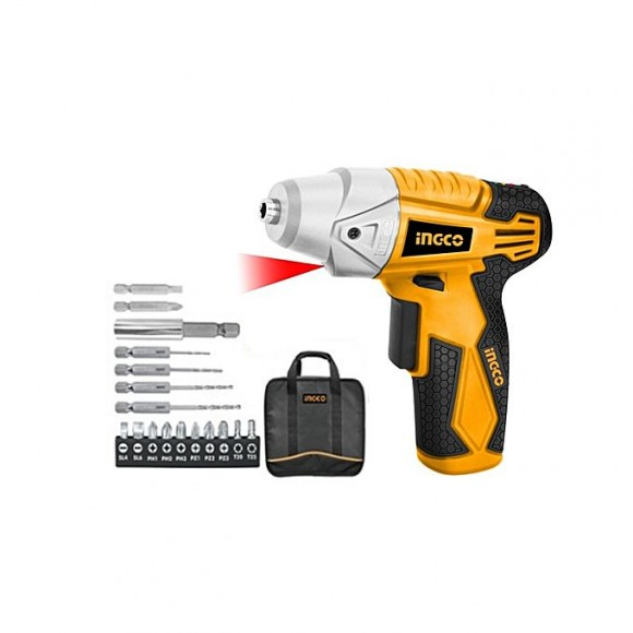 Ingco Cordless Screwdriver With Accessories - 4.8v