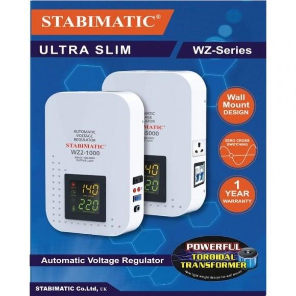 Stabimatic WZ2-1000 - 1000VA, Automatic Voltage Regulator, Ultra Slim Stabilizer, White - Karachi Only