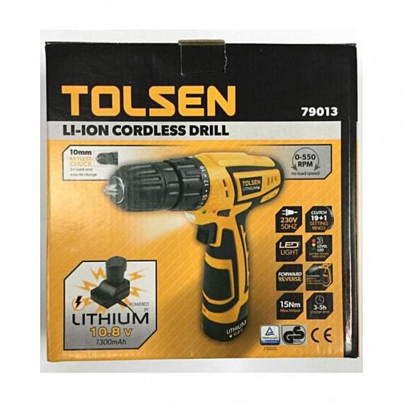 Tolsen Tolsen LI-Ion Cordless Rechargeable Drill