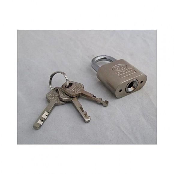 60 MM Padlock With 3 Keys - Silver