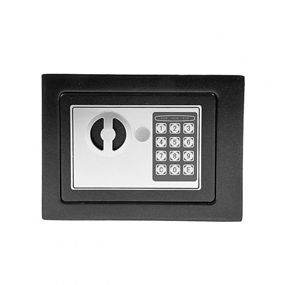 Zapple Digital+Keys Security Safe Deposit Box Locker - Black
