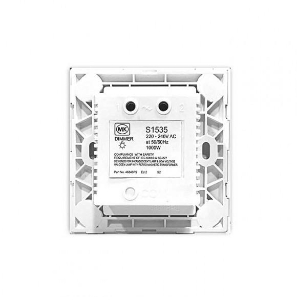 MK 1 Way Light Dimmer 1000W - White