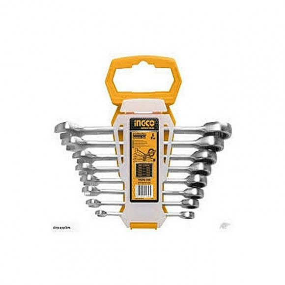 Ingco 8 Pcs Ratchet Spanner Set