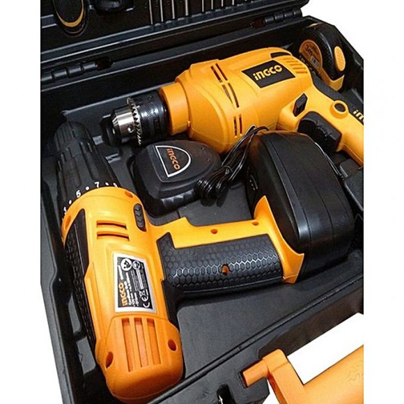 Ingco Cordless And Electric Drill 97 Pcs - HKTHP10971