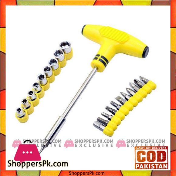24 pcs socket and bits set yellow shoppers pakistan for Gardening tools pakistan