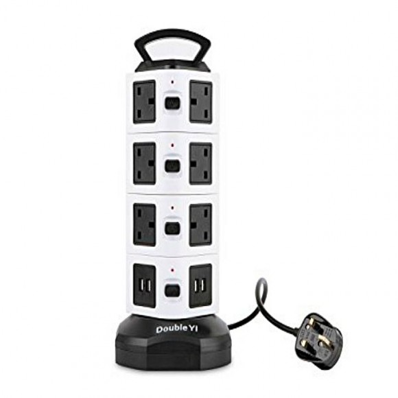 Extension Lead 14 Way Outlet Vertical Smart Socket