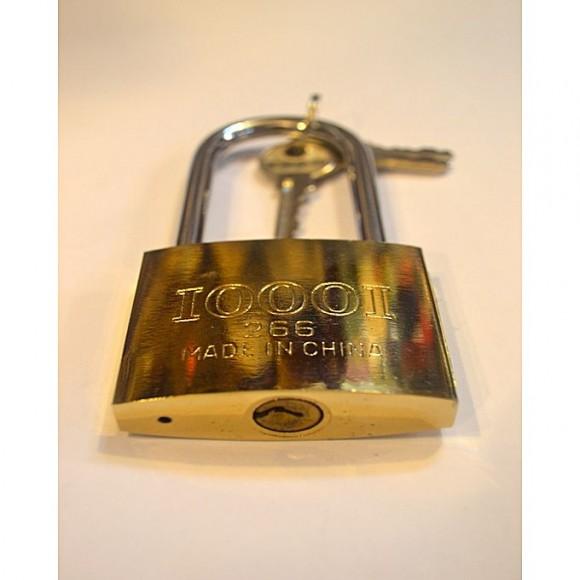 Pack Of 2 - Padlock High Quality metal Large U shape design Anti theft locking brass