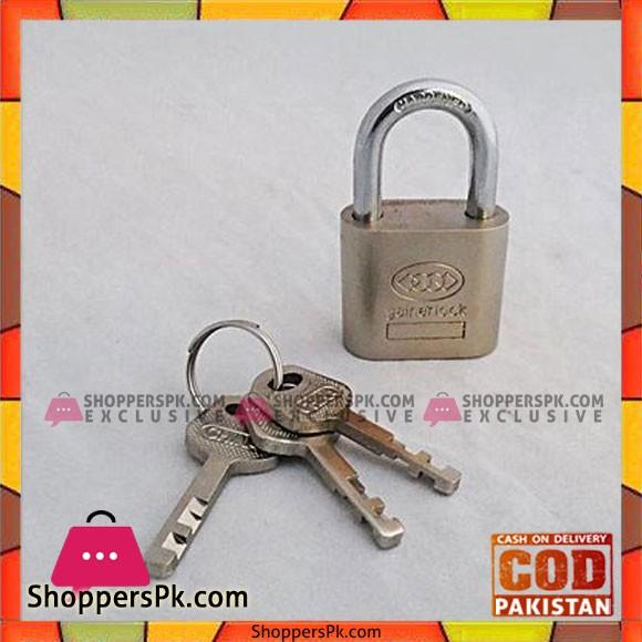 30 MM Padlock With 3 Keys - Silver
