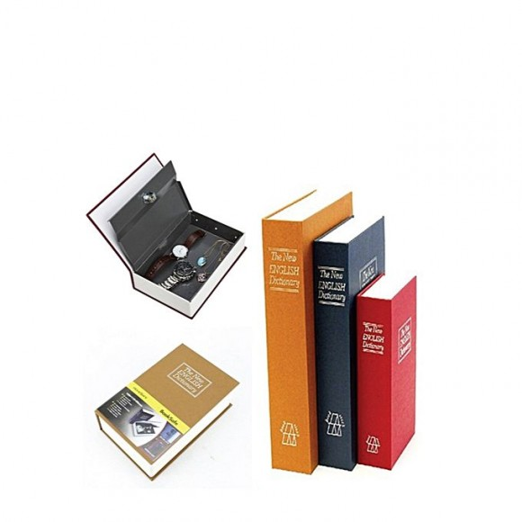 OEM Dictionary Book Hidden Safe Stash With Key - Black