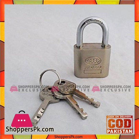 40 MM Padlock With 3 Keys - Silver