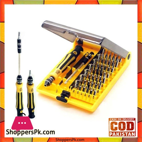 45 In 1 Screwdriver Kit Yellow