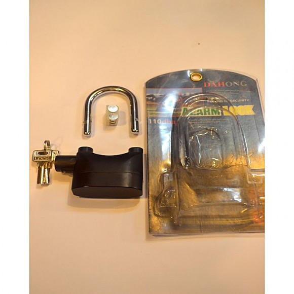 Get Sell Buy Siren Alarm Bicycle Padlock 120Db With 3 Keys