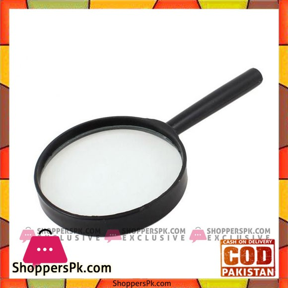 5X Helping Zoom Magnifying Glass 90mm - Black