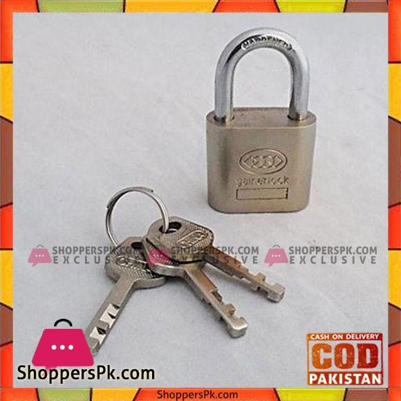 70 MM Padlock With 3 Keys - Silver