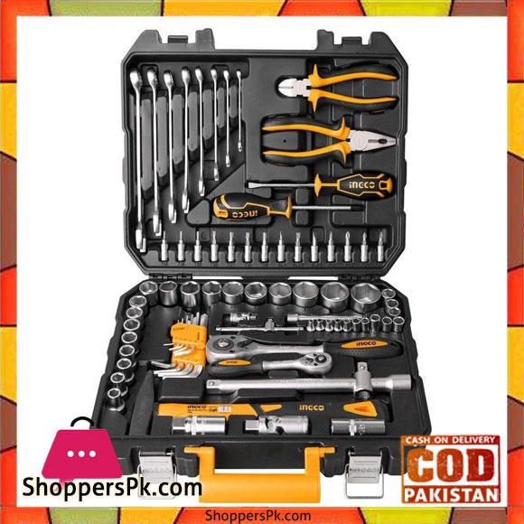 77 pcs cv socket and tool set black and orange for Gardening tools in pakistan