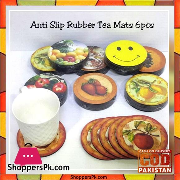 Anti Slip Rubber Tea Mats Set of 6