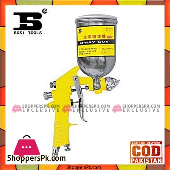 Bosi Bs-F-75G Paint Spray Gun Toptang-Yellow & Silver
