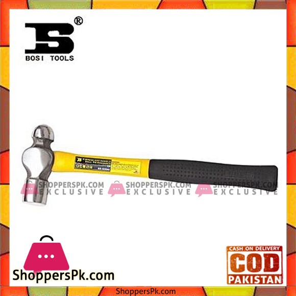 Bosi Bs-G304A Ball Pein Hammer 1Lb-Yellow & Black