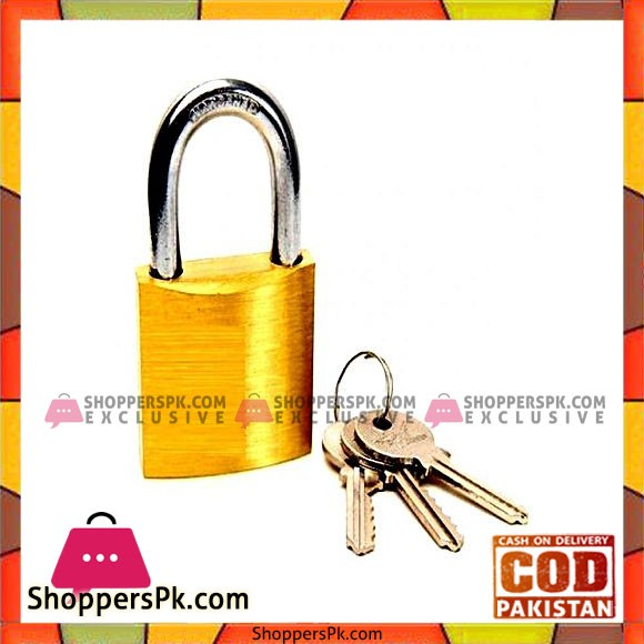 Brass Padlock - Silver