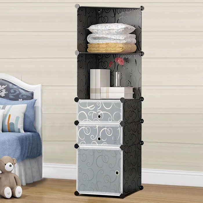 DIY Assembly Corner Storage Portable Cube Cabinet – 5 Cube