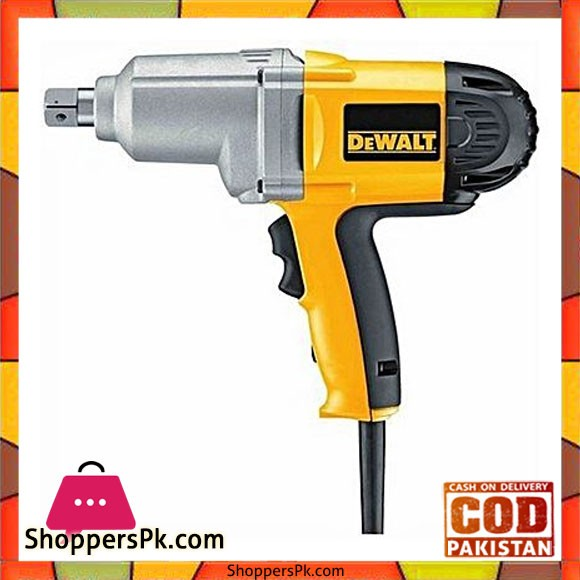 """Dewalt Dw294 Gb 3/4"""" 19Mm Impact Wrench With Detent Pin Anvil-Yellow & Black"""