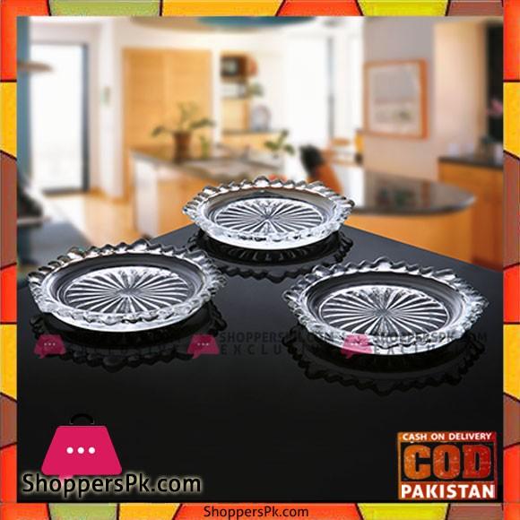 Diamond Cut Coaster Set 6 Piece