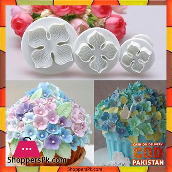 Flower Cake Decorating Plunger - 3 Piece Set