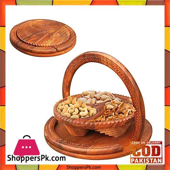 Handy Craft Dry Fruit Basket Brown