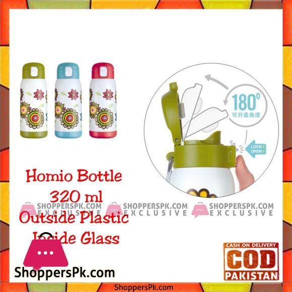 Homio Bottle 320 ML Outside Plastic Inside Glass
