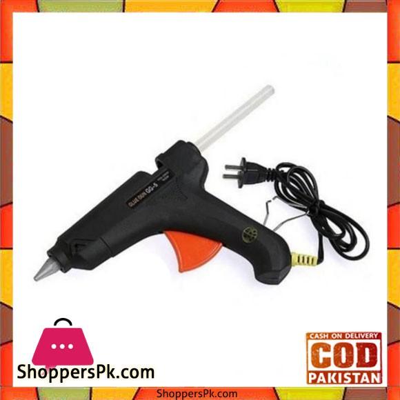 Hot Glue Gun 60W With 10 Glue Stick - Black