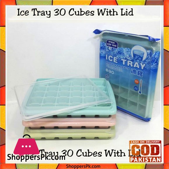 Ice Tray 30 Cubes with Lid