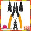 Ingco 4pc Circlip Plier Set - Black & Orange