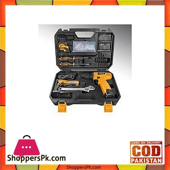 Ingco 76 Pcs Tools Set - Black & Yellow