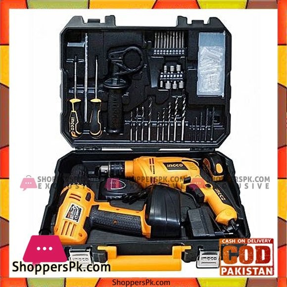 Ingco 97 Pcs Tool Set With Cordless Drill And Electric Drill
