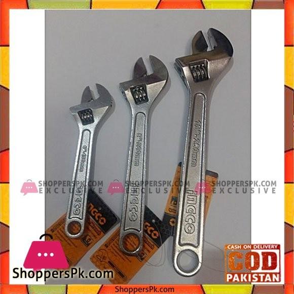 Ingco Adjustable Wrench 6,8,10 Inch Set