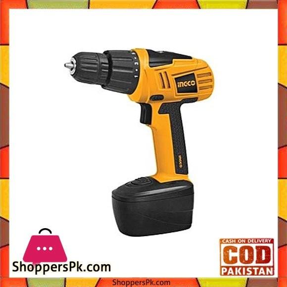 Ingco Cordless Drill - 18V - Black & Yellow
