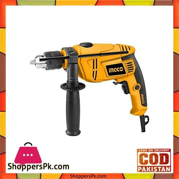 Ingco Electric Drill - 650W - Yellow