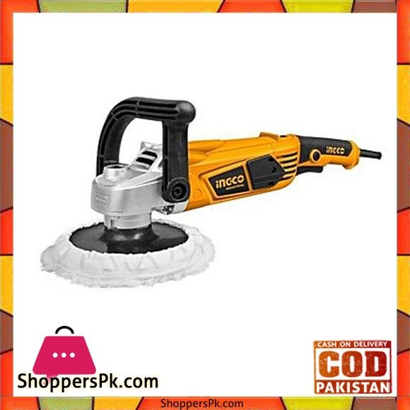 Ingco Heavy Duty Polisher Machine and Buffer - Yellow