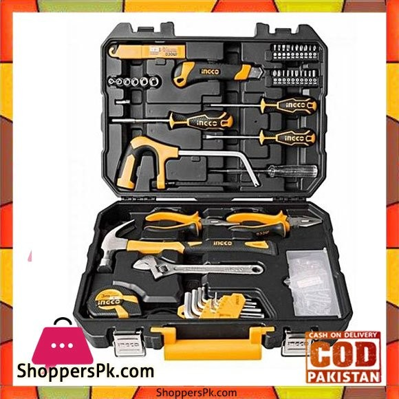 Ingco ingco Professional Tool Kit - 117 Pcs - Black & Yellow
