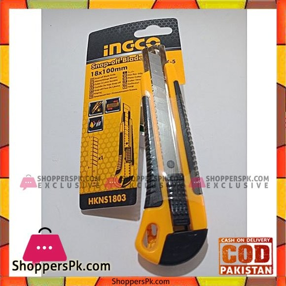 Ingco snap-Off Blade Knife HKNS1803