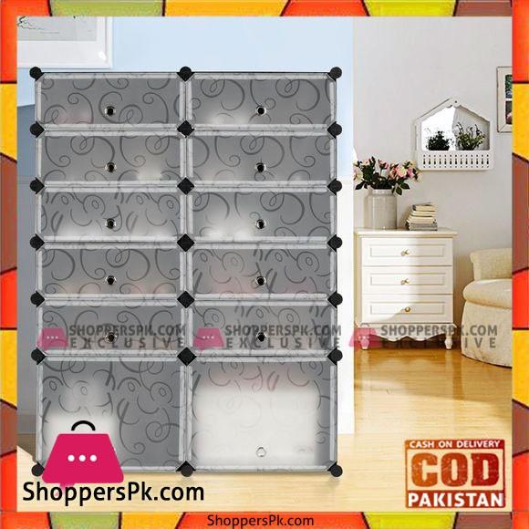 Intelligent Plastic Portable 2 Cube Cabinet – Shoe Rack 10 Cube