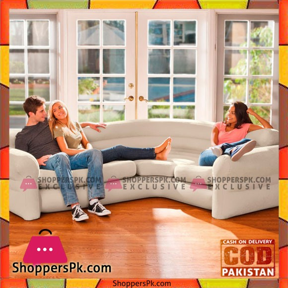 "Intex Inflatable Corner Sofa, 101"" X 80"" X 30"" - 68575"